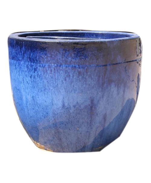 ceramic blue pots grass roots. Black Bedroom Furniture Sets. Home Design Ideas